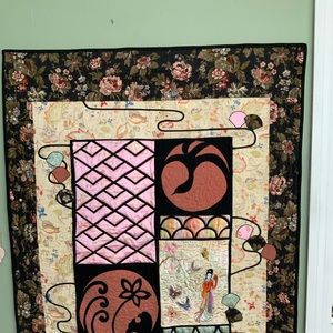 Embroidery Quilted Wall Hanging